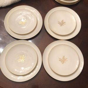 • Set of 4 Lenox Wheat Pattern •